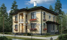 Проект кирпичного дома 42-72