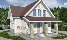 Проект кирпичного дома 42-76