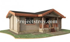 Проект одноэтажного дома из бруса 200х200 мм
