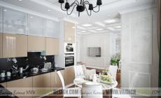 Дизайн кухни-гостиной в ЖК Классика