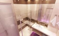 Ванная комната 6 кв. м, выполненная в современном стиле.
