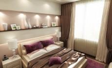 Спальная комната 12 кв. м в современном стиле.