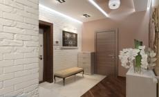 Прихожая 9 кв. м и коридор, выполненные в современном стиле.