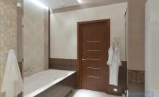 Ванная комната 16 кв. м в современном стиле.