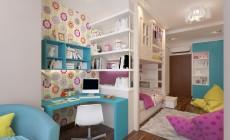 Детская комната 20 кв. м для девочки.