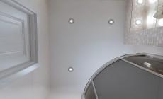 Туалет 6 кв. м в классическом стиле.