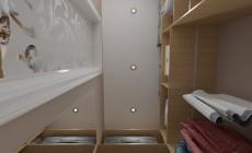 Спальня 20 кв. м и гардеробные в классическом стиле с элементами ар-деко.