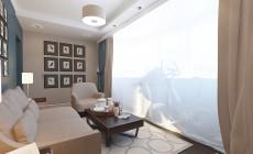 Гостевая комната 16 кв. м в стиле транситионал.