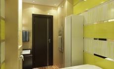 Ванная комната 12 кв. м в современном стиле.