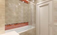 Ванная комната 6 кв. м для детей, в современном классическом стиле.