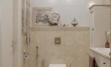 Небольшая ванная комната 6 кв. м в современном классическом стиле.