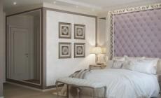 Спальная комната 18 кв. м в стиле современная классика.