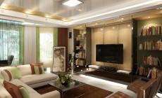 Гостиная 20 кв. м в современном стиле, с элементами хай-тек.