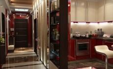 Гостиная 20 кв. м, выполненная в стиле эклектика.