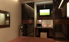 Спальная комната 12 кв. м в стиле эклектика.