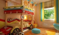 Детская комната 14 кв. м для маленького мальчика.
