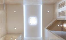 Ванная комната 18 кв. м в современном классическом стиле.