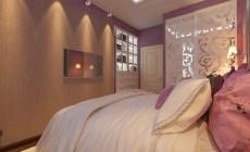 Спальная комната 16 кв. м в современном классическом стиле.