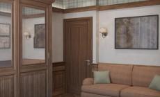 Рабочий кабинет 10 кв. м в классическом стиле.