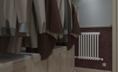 Спальная комната 16 кв. м в в загородном коттедже, выполненная в современном стиле.