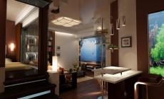 Многофункциональная гостиная 30 кв. м в стиле эклектика для молодой девушки.