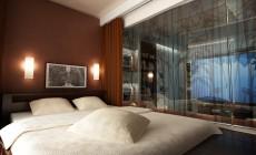 Спальная комната 12 кв. м в этническом стиле для молодой девушки