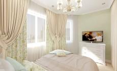 Гостиная - спальня общей площадью 18 кв. м в однокомнатной квартире, выполненная в классическом стиле для мамы