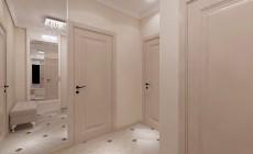 Прихожая 5 кв. м в классическом стиле, оборудованная в однокомнатной квартире для мамы