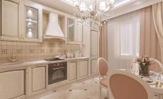 Кухня 10 кв. м в классическом стиле для мамы
