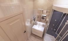 Ванная комната 6 кв. м в классическом стиле, в квартире для мамы