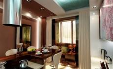 Кухня 10 кв. м в стиле эклектика