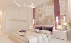 Спальная комната 18 кв. м в современном стиле