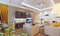 Гостиная 20 кв. м в современном стиле