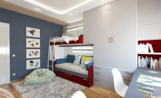 Детская комната 16 кв. м для двух мальчиков