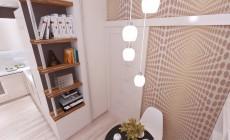 Гостиная-кухня 18 кв. м в современном стиле для молодого человека