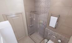Ванная комната 5 кв. м в загородном коттедже, выполненная в классическом стиле