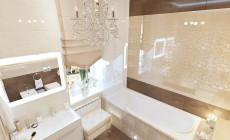 Ванная комната 15 кв. м в современном классическом стиле