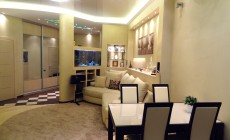 Гостиная-кухня 30 кв. м в современном стиле