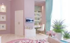 Детская комната 15 кв. м в трехкомнатной квартире, выполненной в классическом стиле