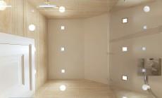 Душевая комната 5 кв. м в загородном коттедже, выполненном в стиле прованс