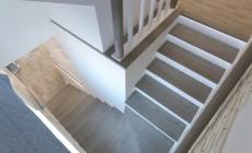 Лестница в загородном коттедже в современном стиле