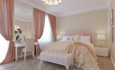 Спальная комната 20 кв. м в загородном коттедже, стиль прованс