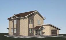 Проект дома с гаражом Л-02-24