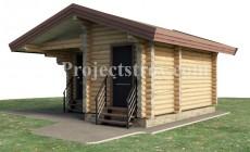 Проект бани - садового домика - хоз. постройка