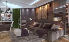 Гостиная 18 кв. м в современном стиле