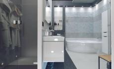Ванная-сауна 10 кв. м в современном стиле