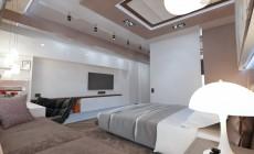 Спальня 16 кв. м в современном стиле
