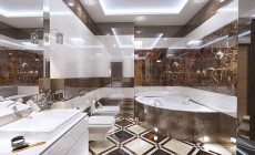 Ванная комната 10 кв. м, стиль эклектичный