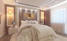 Спальня мужская 14 кв. м, стиль эклектичный
