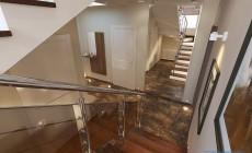 Прихожая и лестница в загородном доме